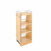 Rev-A-Shelf Kitchen Upper Cabinet Soft Close Pull-Out Organizer w/ 2 Adjustable Shelves, 9-1/2''W x 10-3/4''D x 26-1/8''H, with Full-Extension Ball-Bearing Slides, Fits 12'' Frameless Wall Cabinets