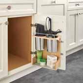 Rev-A-Shelf Door Storage Appliance Rack for 15'' Vanity Base Cabinets, 14-13/16''W x 5-15/16''D x 13-3/4''H