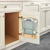 Rev-A-Shelf Door Storage Scale Holder for 15'' Vanity Base Cabinets, 15''W x 4-11/16''D x 12-1/2''H