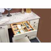 Rev-A-Shelf 21-3/4'' Vanity Drawer Insert Cosmetic Organizer, Natural Maple, 32-3/4''W x 21-1/16''D x 2-1/16''H