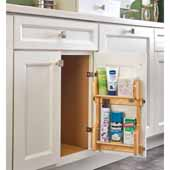 Rev-A-Shelf Vanity Door Mounted Organizational Storage Rack, for 21'' Base Cabinet, 17-1/4'' to 21-3/4''W x 3-1/8''D x 15-1/2''H