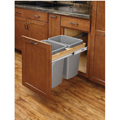 Rev-A-Shelf Double Soft-Close Wood Top Mount Waste Bin, Min. Cabinet Opening: 12''  Wide