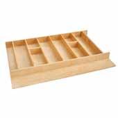 Rev-A-Shelf Premium Wood Utensil Drawer Insert, 33-1/8''W x 22''D x 2-7/8''H