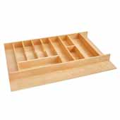 Rev-A-Shelf Premium Wood Utensil/Cutlery Combo Drawer Insert, 33-1/8''W x 22''D x 2-7/8''H
