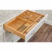 Rev-A-Shelf Premium Wood Utensil/Cutlery/Knife Combo Drawer Insert, 33-1/8''W x 22''D x 2-7/8''H