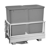 Rev-A-Shelf Double Bin Door Mount Rev-A-Motion Waste Container, Silver, Min. Cabinet Opening: 11-1/2''  Wide