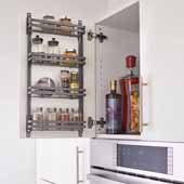 Rev-A-Shelf Flat Wire Cabinet Door Spice Racks, Orion Gray, 7-13/16''W x 2-7/16''D x 23-5/16''H