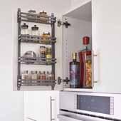 Rev-A-Shelf Flat Wire Cabinet Door Spice Racks, Orion Gray, 13-9/16''W x 2-7/16''D x 23-5/16''H