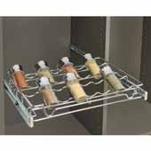 Sidelines by Rev-A-Shelf Wire Pullout Spice/Can Rack for 14'' Deep Closet, Chrome, 18''W x 14''D x 2-3/8''H