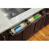 Rev-A-Shelf 11'' Sink Tip Out Polymer Trays, (2) Almond Trays and (1) Pair of Hinges