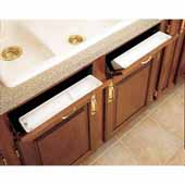 Rev-A-Shelf 14'' Sink Tip Out Polymer Trays, (2) White Trays and (1) Pair of Hinges