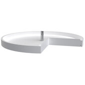 Rev-A-Shelf 28'' Pie-Cut Polymer Single Tray Corner Lazy Susans, White