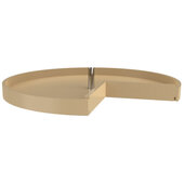 Rev-A-Shelf 28'' Pie-Cut Polymer Single Tray Corner Lazy Susans, Almond