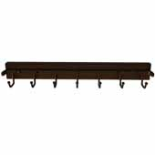 Sidelines by Rev-A-Shelf 14'' Deep Deluxe Pop-Out Metal Belt Rack, Bronze