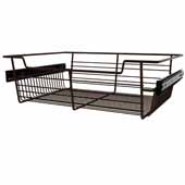 Sidelines by Rev-A-Shelf Closet Wire Pullout Basket, Bronze, 18''W x 14''D x 5''H
