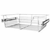 Sidelines by Rev-A-Shelf Closet Wire Pullout Basket, Chrome, 18''W x 14''D x 5''H