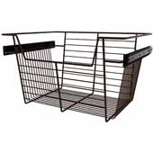 Sidelines by Rev-A-Shelf Closet Wire Pullout Basket, Bronze, 18''W x 14''D x 10''H