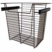 Sidelines by Rev-A-Shelf Closet Wire Pullout Basket, Bronze, 18''W x 14''D x 17''H