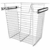 Sidelines by Rev-A-Shelf Closet Wire Pullout Basket, Chrome, 18''W x 14''D x 17''H