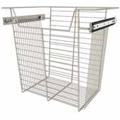 Sidelines by Rev-A-Shelf Closet Wire Pullout Basket, Satin Nickel, 18''W x 14''D x 17''H