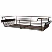 Sidelines by Rev-A-Shelf Closet Wire Pullout Basket, Bronze, 24''W x 14''D x 5''H