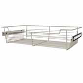 Sidelines by Rev-A-Shelf Closet Wire Pullout Basket, Satin Nickel, 24''W x 14''D x 5''H