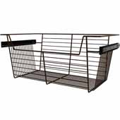 Sidelines by Rev-A-Shelf Closet Wire Pullout Basket, Bronze, 24''W x 14''D x 10''H