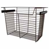 Sidelines by Rev-A-Shelf Closet Wire Pullout Basket, Bronze, 24''W x 14''D x 17''H