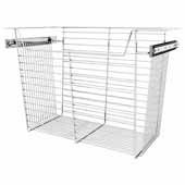 Sidelines by Rev-A-Shelf Closet Wire Pullout Basket, Chrome, 24''W x 14''D x 17''H