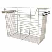 Sidelines by Rev-A-Shelf Closet Wire Pullout Basket, Satin Nickel, 24''W x 14''D x 17''H
