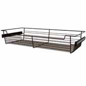 Sidelines by Rev-A-Shelf Closet Wire Pullout Basket, Bronze, 30''W x 14''D x 5''H