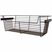 Sidelines by Rev-A-Shelf Closet Wire Pullout Basket, Bronze, 30''W x 14''D x 10''H