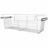 Sidelines by Rev-A-Shelf Closet Wire Pullout Basket, Chrome, 30''W x 14''D x 10''H