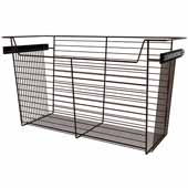 Sidelines by Rev-A-Shelf Closet Wire Pullout Basket, Bronze, 30''W x 14''D x 17''H