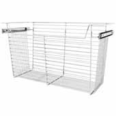 Sidelines by Rev-A-Shelf Closet Wire Pullout Basket, Chrome, 30''W x 14''D x 17''H