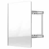 Sidelines by Rev-A-Shelf Premier Swivel Pullout Closet Mirror with Soft-Close for 14'' Deep Closet, Silver, 2''W x 13''D x 24''H