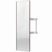 Sidelines by Rev-A-Shelf Premier Swivel Pullout Closet Mirror with Soft-Close for 14'' Deep Closet, Bronze, 2''W x 13''D x 48''H