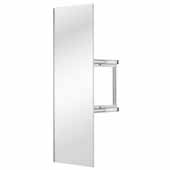 Sidelines by Rev-A-Shelf Premier Swivel Pullout Closet Mirror with Soft-Close for 14'' Deep Closet, Silver, 2''W x 13''D x 48''H