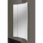 Sidelines by Rev-A-Shelf 3-Way Pullout Mirror with Soft-Close for 14'' Deep Closet, Silver