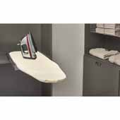 Sidelines by Rev-A-Shelf Elite Rotating Ironing Board with Soft-Close, 18-11/16''W x 14''D x 4-17/32''H