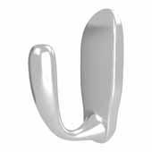 Sidelines by Rev-A-Shelf Single Decorative Hook, Chrome, 27/32''W x 1-5/8''D x 2-13/32''H