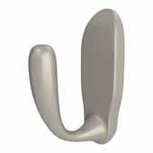 Sidelines by Rev-A-Shelf Single Decorative Hook, Satin Nickel, 27/32''W x 1-5/8''D x 2-13/32''H