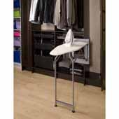 Sidelines by Rev-A-Shelf Deluxe Swivel Ironing Board with Soft-Close, 8''W x 13''D x 53-5/32''H