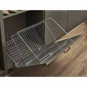 Sidelines by Rev-A-Shelf 16''W Tilt-Out Hamper with Steel Wire Basket, Chrome, Minimum Cabinet Opening: 18''W x 14''D x 19-1/2''H