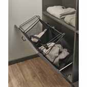 Sidelines by Rev-A-Shelf 21''W Tilt-Out Cloth Hamper, Minimum Cabinet Opening: 24''W x 14''D x 19-1/2''H