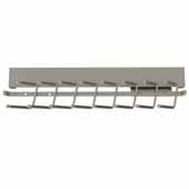 Sidelines by Rev-A-Shelf Deluxe 14'' Deep Pull-Out Metal Tie Rack, Satin Nickel