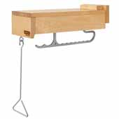 Rev-a-Shelf Glideware Closet Valet Hanger Pullout with BLUMOTION Soft-Close for 14'' Deep Closet, Natural Maple