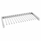 Sidelines by Rev-A-Shelf Pull-Out Pants Rack with Soft-Close Slides, Satin Chrome, 30''W x 14''D x 2-1/2''H