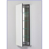 M Series 16X40 Medicine Cabinet, Flat Door, Pencil Edge, Left Side Hinges, Electric, 15-1/4'' W x 8'' D x 39-3/8'' H