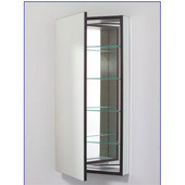 M Series 16X40 Medicine Cabinet, Flat Door, Pencil Edge, Left Side Hinges, Electric, 15-1/4'' W x 6'' D x 39-3/8'' H